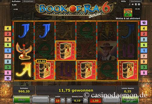Book of Ra Deluxe 6 Spielautomat screenshot 3