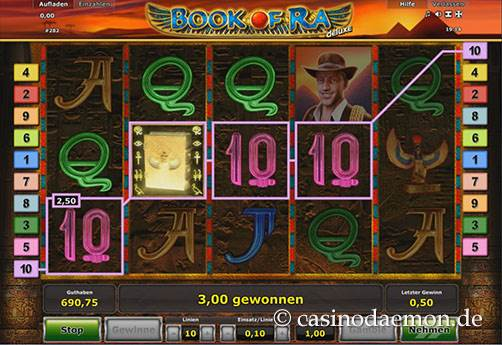 Book of Ra Deluxe Spielautomat screenshot 1
