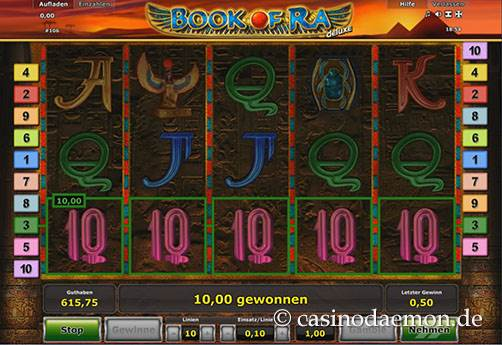 Book of Ra Deluxe Spielautomat screenshot 3