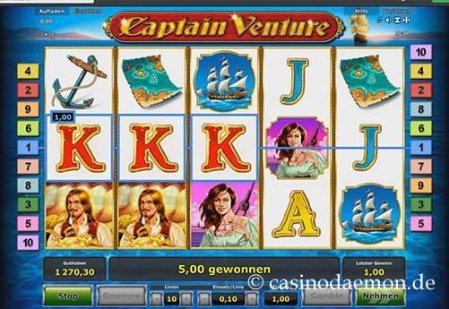 Captain Venture Spielautomat screenshot 1