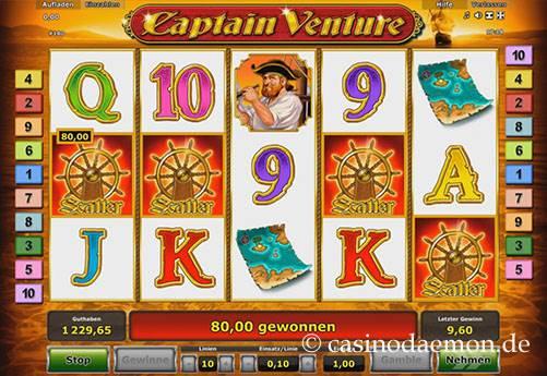 Captain Venture Spielautomat screenshot 2