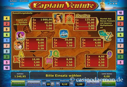 Captain Venture Spielautomat screenshot 4