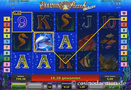 Dolphin's Pearl Deluxe slot screenshot 3
