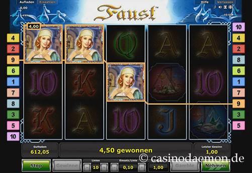 Faust slot screenshot 1