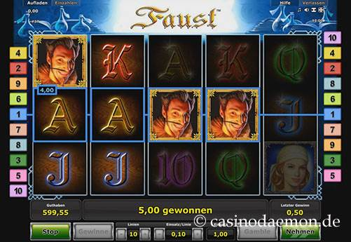 Faust slot screenshot 3