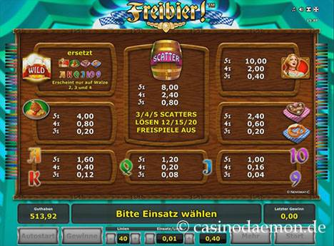 Freibier Spielautomat screenshot 4