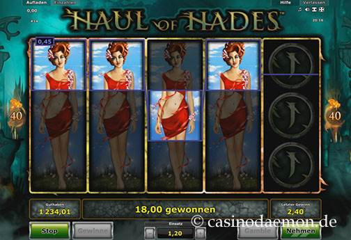 Haul of Hades Spielautomat screenshot 1