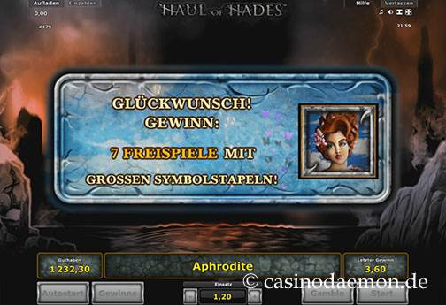 Haul of Hades Spielautomat screenshot 2