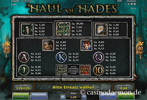 Haul of Hades Spielautomat screenshot 4