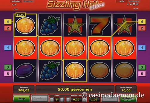 Sizzling Hot Deluxe slot screenshot 2