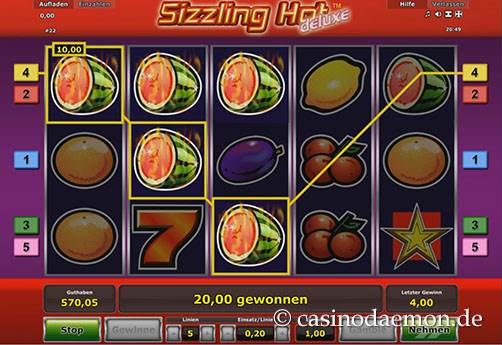 Sizzling Hot Deluxe slot screenshot 3