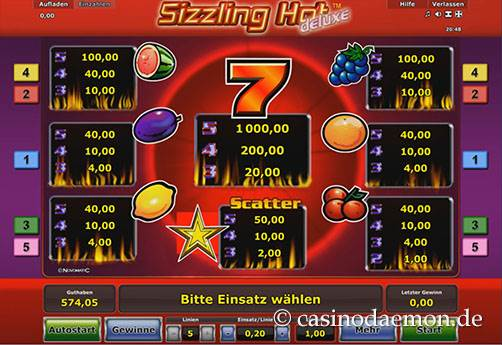 Sizzling Hot Deluxe slot screenshot 4