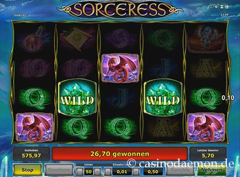 Sorceress Spielautomat screenshot 3