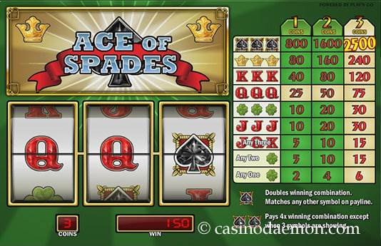 Ace of Spades Spielautomat screenshot 1