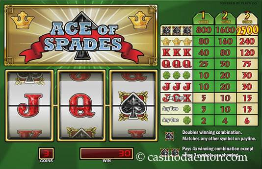 Ace of Spades Spielautomat screenshot 2