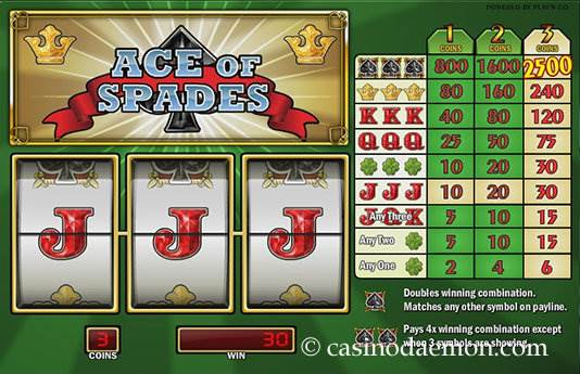Ace of Spades Spielautomat screenshot 3