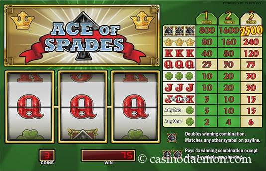 Ace of Spades Spielautomat screenshot 4