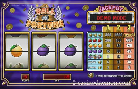 Bell of Fortune Spielautomat screenshot 1