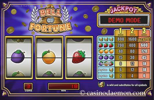 Bell of Fortune slot screenshot 2