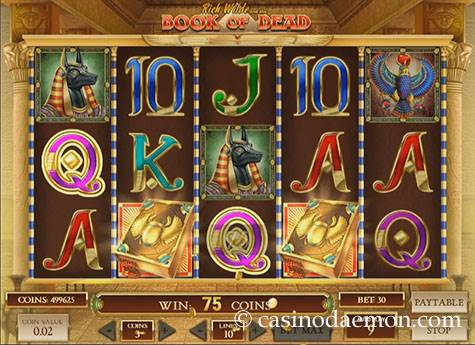Book of Dead slot screenshot 1