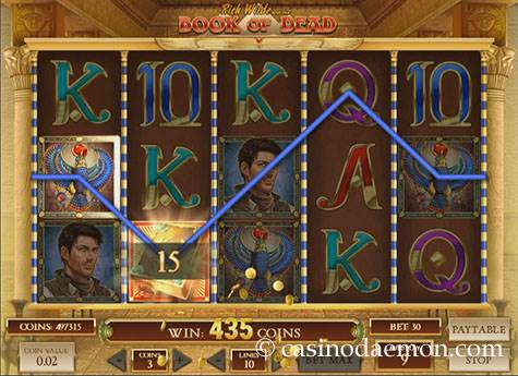 Book of Dead slot screenshot 3