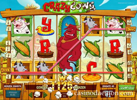 Crazy Cows Spielautomat screenshot 1