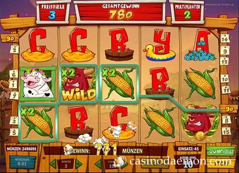 Crazy Cows Spielautomat screenshot 3