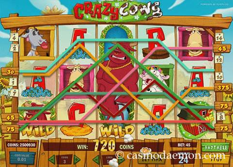 Crazy Cows slot screenshot 1