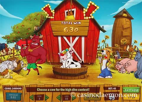 Crazy Cows slot screenshot 2