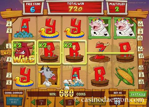 Crazy Cows slot screenshot 3