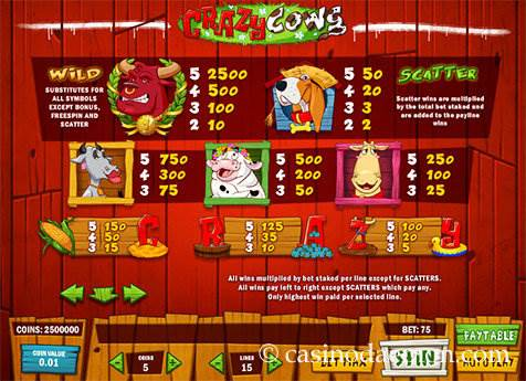 Crazy Cows slot screenshot 4