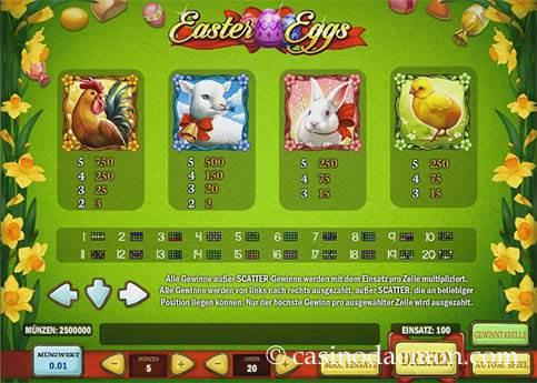 Easter Eggs Spielautomat screenshot 4