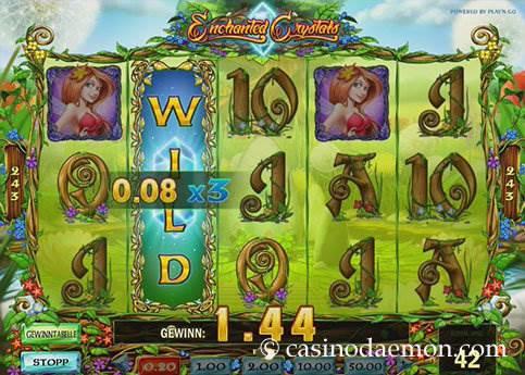 Enchanted Crystals Spielautomat screenshot 1