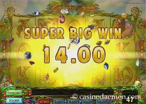 Enchanted Crystals Spielautomat screenshot 2