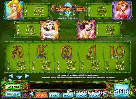 Enchanted Crystals Spielautomat screenshot 4