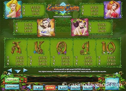 Enchanted Crystals slot screenshot 4