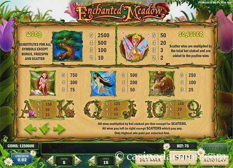 Enchanted Meadow slot screenshot 4