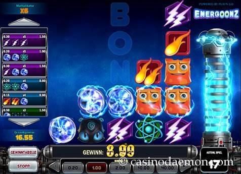 Energoonz Spielautomat screenshot 1