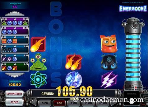 Energoonz Spielautomat screenshot 2