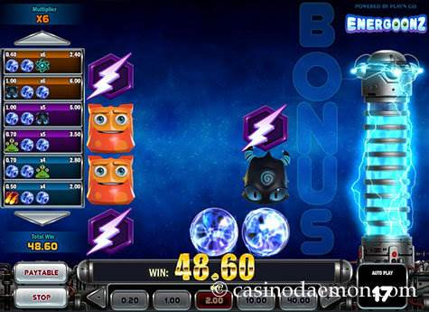 Energoonz slot screenshot 2