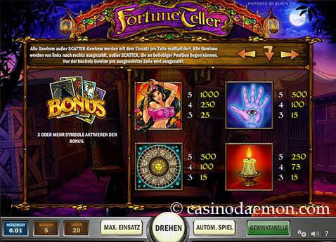 Fortune Teller Spielautomat screenshot 4