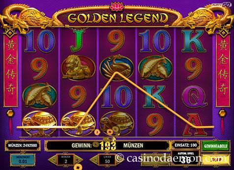 Golden Legend Spielautomat screenshot 1