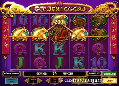 Golden Legend Spielautomat screenshot 3