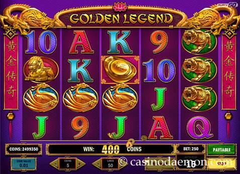 Golden Legend slot screenshot 2