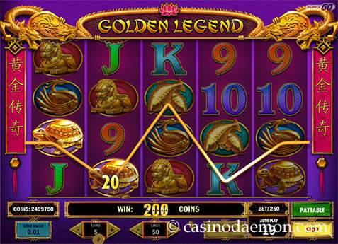 Golden Legend slot screenshot 3