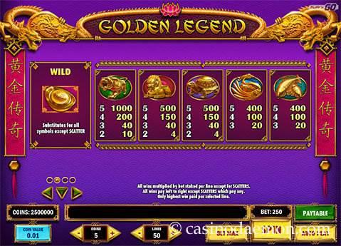 Golden Legend slot screenshot 4