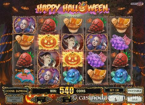 Happy Halloween slot screenshot 1