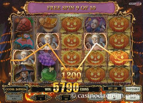 Happy Halloween slot screenshot 2