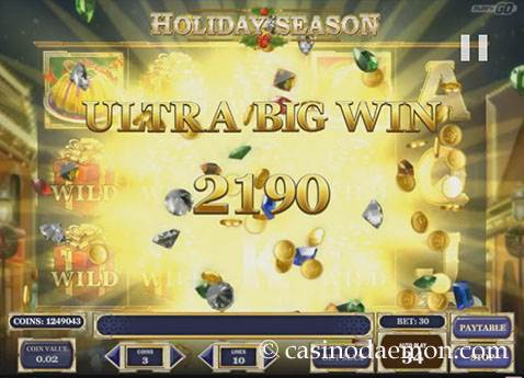 Holiday Season Spielautomat screenshot 3