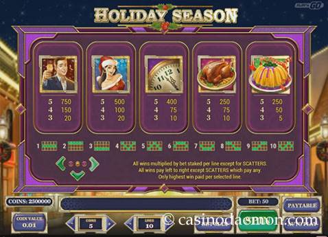 Holiday Season slot screenshot 4